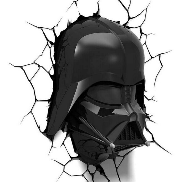 Star Wars Accents Star Wars Darth Vader Helmet 3d Deco Night Light Poshmark